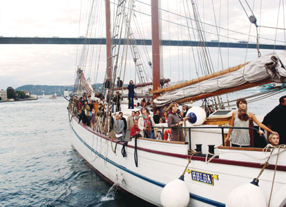 The MS Hulda is in Istanbul as part of the many events organized for the 2010 European Capital of Culture program.