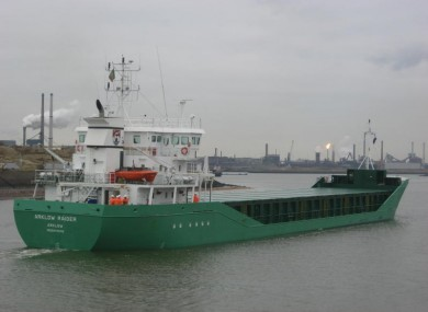 The 'Arklow Raider' which is still stuck on a sand bank off Drogheda