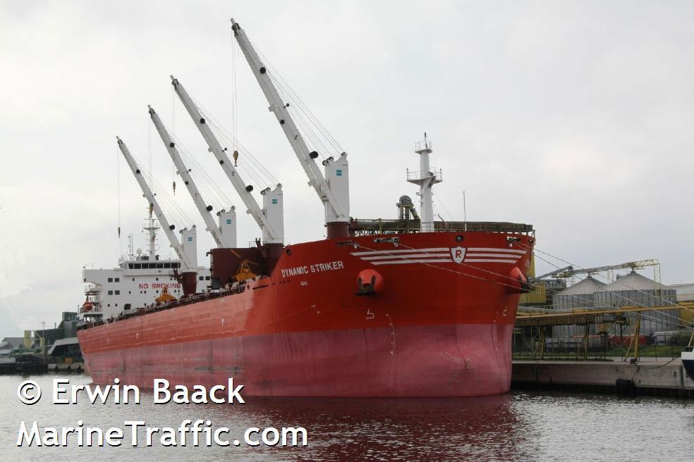 Dynamic Striker IMO 9493652, dwt 57000, built 2010, flag Bahamas, operator Enterprises Shipping & Trading S.A. Athens.