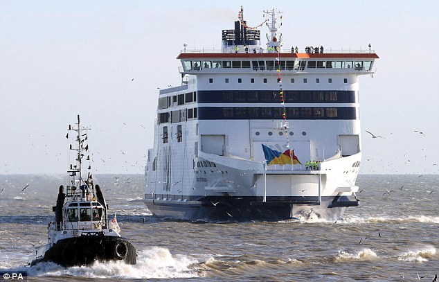 Huge capacity: The boat can carry 2,000 passengers and 1,000 cars