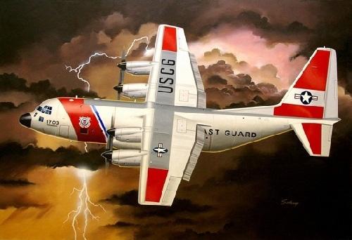Coast Guard c-130 plane