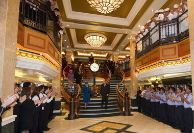 Arthur Edwards, Associated PressBritain's Queen Elizabeth II, descending the stairs, was on hand in October for the naming ceremony of Cunard's new ship, the Queen Elizabeth. Now on an around-the-world cruise, it sails from England in the spring.