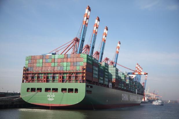 CSCL Star at port of Hamburg