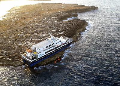 Fast Ferry Maverick Dos ran aground between Ibiza and Formentera
