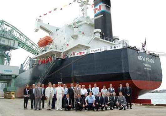 NYK Celebrates Reconstruction of Port Devastated by Japan Quake