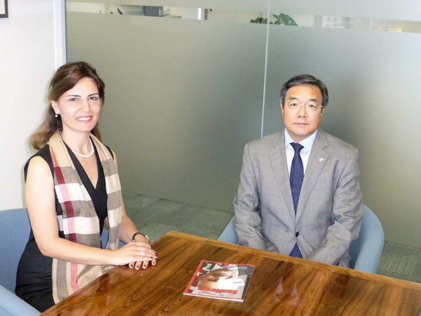 Seanews Magazine's Editor-in Chief, Mrs. Fulya Tekin Istikbal, interviewed with Mr. Koji Sekimizu at the IMO's London Headquarters