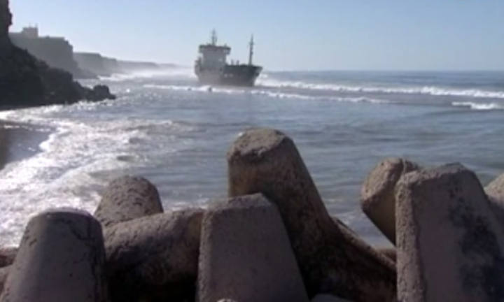 Tanker 'Silver' hard aground in southern Morocco