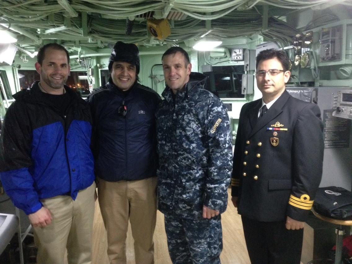 Safely alongside: together with THE commander of ÜSS Mount Whitney @ Salipazari berth — Chief mate/USS MOUNT WHITNEY, Captain Craig Clapperton ve Burak İnan