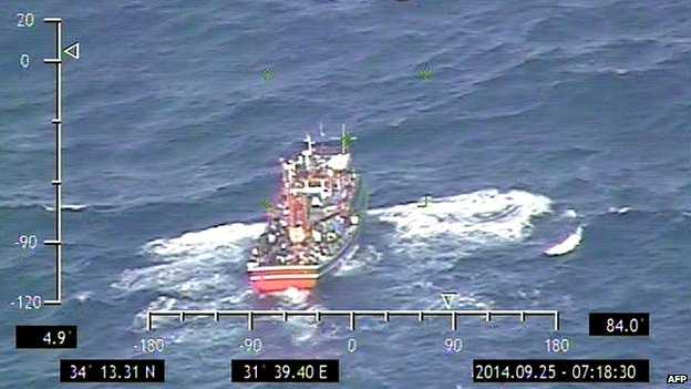 The Cyprus defence ministry released photos of the boat