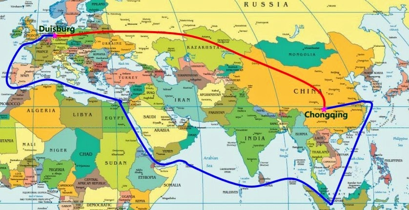 Called New Silk Road, China to Spain 6,200 mile long railway line opens