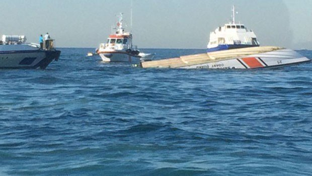 Turkish coast board boat sank after collision, leaving 3 dead one missing