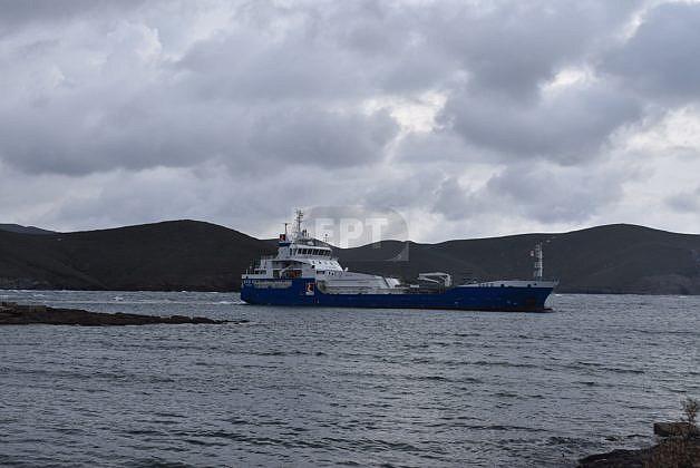 Tanker aground off Psara