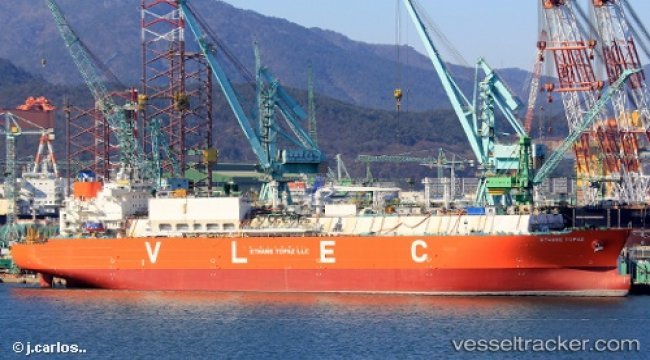 Tanker M/T Ethane Opal allided with two ferries