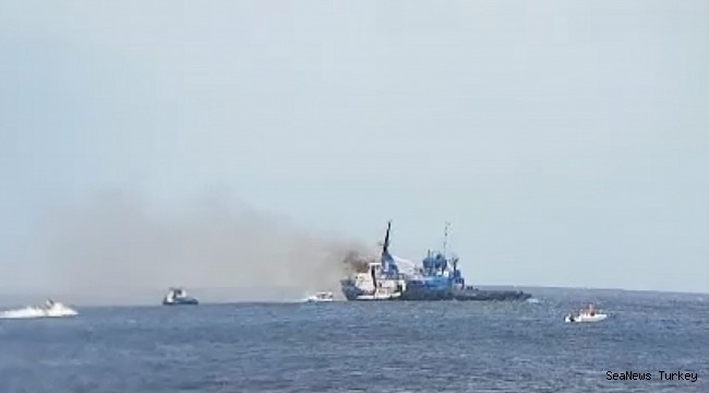 Tug in flames off Bonaire