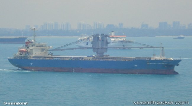 Brandnew ULCS in collision with cargo ship