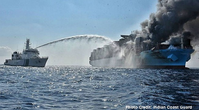 Firefighting continues on Maersk Honam, surviving seafarers land in India