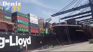 Hapag-Lloyd Ship Tolten allides with Zodiac's M/V Hamburg Bay in Karachi Port