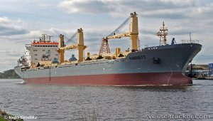 Bulkcarrier 'Harriet' hard aground in White Sea