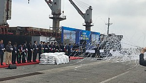 Turkish shipowner ships the Korean aid to Africa