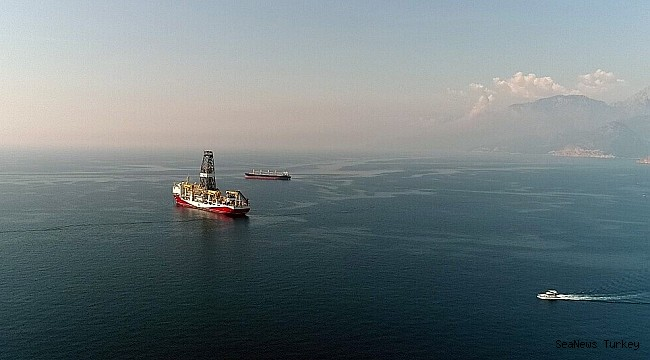 Turkey's first active drilling ship 'Fatih' in Mediterranean