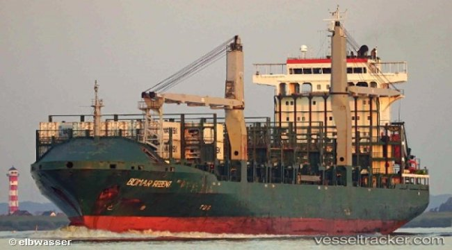 Containership suscpected of involvement in triple collision