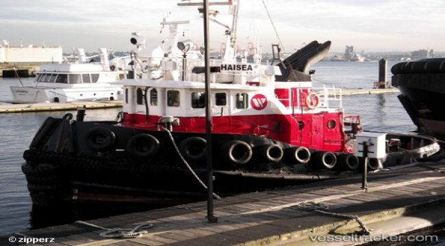 Tug in collision with barge