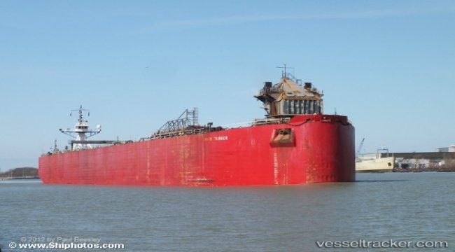 Ran aground, whilst towing barge Ashtabula