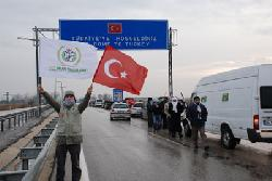 Gaza convoy arrives in western Turkey