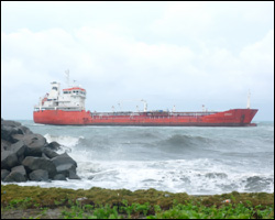 Storm grounds Turkish tanker in St. Kitts, no spill