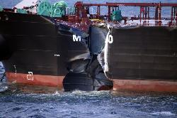 Fuel tanker collides with container ship in North Sea