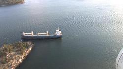 Dutch Cargo Ship Aground in Archipelago, Finland