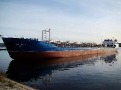 Two tankers collided, river Volga