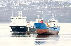 Coaster Havfrakt ran aground, Norway