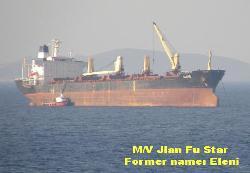 M/V Jian Fu Star sunk, 1 dead 12 missing