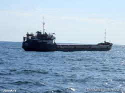 Freighter ran aground leaving Belgorod-Dnestrovskiy, Black sea