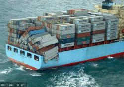 Maersk Sembawang lost at least 50 containers, Biscay