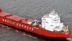 Icebreaking container vessel Monchegorsk, successful Arctic voyage