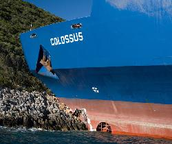 "Ferry ""Colossus"" ran aground, Greece"