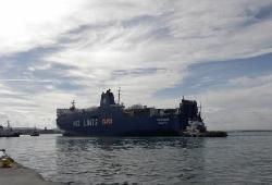 Greek Ferry 'Colossus' refloated