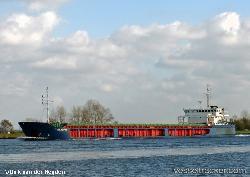 Russian freighter ran aground in Kiel Kanal