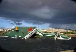 Ferry drifted to shore and capsized in Istanbul