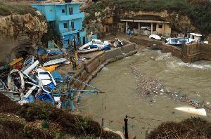 Storm shuts down eastern Mediterranean