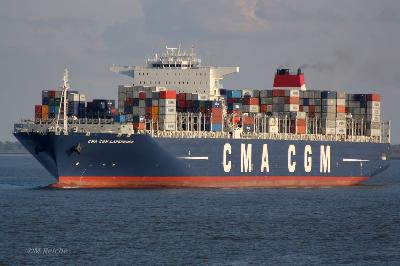 Mega-boxship collided with coaster, North Sea