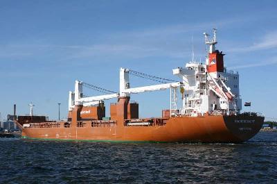 "Dutch freighter ""Stadiongracht"" aground off Rauma"