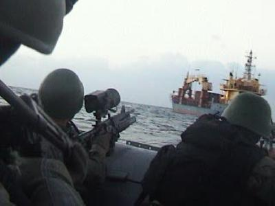 Turkish Naval Commandoes On Board of M/V Leopard