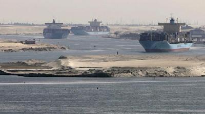 'Suez shipping traffic normal; canal secured'