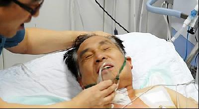 Captain Seok put back on respirator
