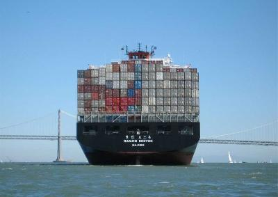 Trans-Pacific container rates down for first time in year