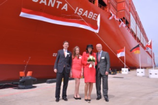 Hamburg Süd celebrates christening of a 7,100 TEU container ship