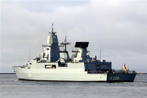 FGS Hamburg Evacuates Casualty, Indian Ocean